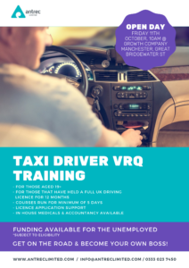 Greater Manchester Taxi Driver VRQ training