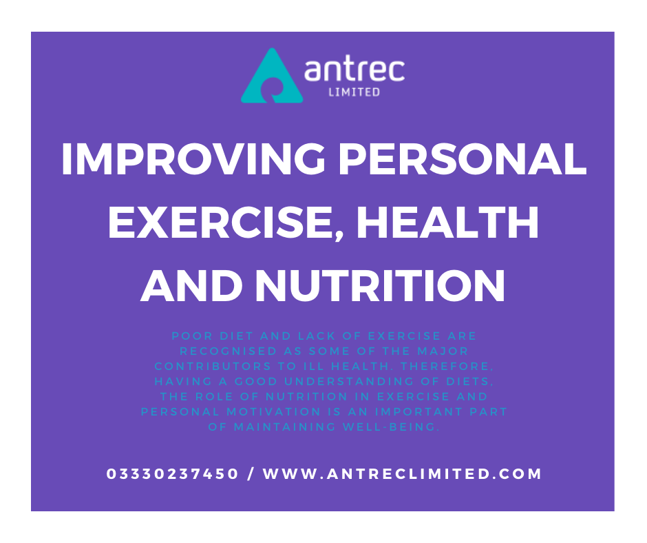 Improving Personal Exercise, Health and Nutrition Image